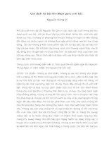 Báo cáo văn học Cần dịch lại bài thơ Nam quốc sơn hà