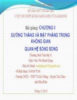 Slide tóan 11 ĐƯỜNG THẲNG VÀ MẶT PHẲNG TRONG KHÔNG GIAN QUAN HỆ SONG SONG _Mạnh Giang