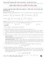 Tài liệu ôn thi Tốt nghiệp THPT và tuyển sinh Đại học – Cao đẳng môn Hóa học