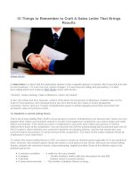 10 things to remember to craft a sales letter that brings results