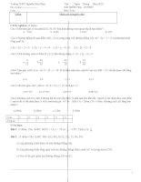 BÀI KIỂM TRA 45 PHÚT HKII MÔN TOÁN (ĐẠI SỐ) LỚP 10 ĐỀ 6