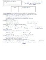 BÀI KIỂM TRA 45 PHÚT MÔN TOÁN (ĐẠI SỐ) LỚP 10 ĐỀ 13