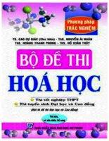 BỘ đề THI hóa học PART1 có đáp án và bình luận chi tiết