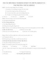520 CÂU HỎI TRẮC NGHIỆM CƠ BẢN VỀ CHỨNG KHOÁN VÀ THỊ TRƯỜNG CHỨNG KHOÁN- CÓ ĐÁP ÁN