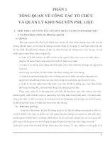 ĐỒ ÁN CHUYÊN NGÀNH CÔNG NGHỆ MAY ĐỀ TÀI: Quy trình tổ chức và quản lý tại kho nguyên phụ liệu của Khu V Tổng Công Ty Nhà Bè