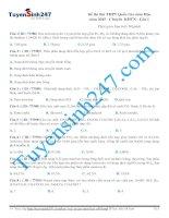 Đề thi thử THPT Quốc Gia môn Hóa  năm 2015  Chuyên KHTN  Lần 1