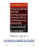 BÀI GIẢNG HÓA ĐẠI CƯƠNG - CHƯƠNG 10 CÂN BẰNG TRONG DUNG DỊCH CHẤT ĐIỆN LY