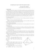 hệ thống bài tập về thể tích khối đa diện