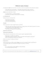 Different uses of about