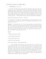 CÁC BÀI CẢM THỤ VĂN HỌC LỚP 5