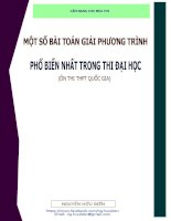 Tuyển chọn các bài toán giải phương trình đặc sắc  điển hình ôn thi THPT quốc gia