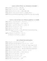 Tổng hợp các bài toán hay về dãy số