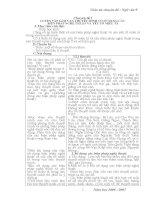 Giáo án chuyên đề : Ngữ văn 9