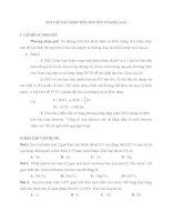 Bài tập về xác định tên kim loại