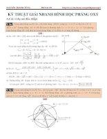 kĩ thuật giải nhanh hình học phẳng oxy