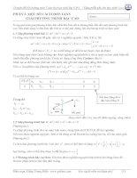 cách giải phương trình bậc cao và một số hệ phương trình cơ bản