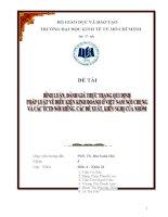 Bình luận, đánh giá thực trạng qui định pháp luật về điều kiện kinh doanh ở Việt Nam nói chung và các TCTD nói riêng, các đề xuất, kiến nghị của nhóm