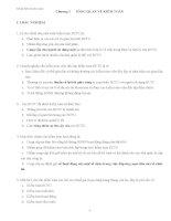 Bài tập Kiểm toán đại cương có đáp án