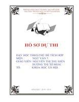 bài dự thi dạy học tích hợp liên môn giáo án ngữ văn 7 tiết 106 sống chết mặc bay