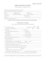 Phiếu khai báo tạm trú dành cho người nước ngoài - Registration card of stay