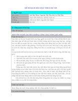 bài dạy theo chủ đề tích hợp liên môn bảo tồn làng nghề truyền thống cốm làng vòng (hà nội)