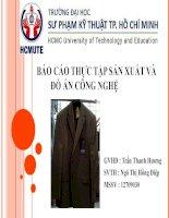BÁO CÁO THỰC TẬP SẢN XUẤT VÀ ĐỒ ÁN CÔNG NGHỆ Công tác kiểm soát chất lượng áo vest
