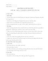 giáo án tích hợp tiết 40 bài 1 làm quen với số nguyên âm