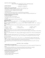 Đề cương ôn tập học kì I lớp 11 hóa học