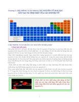 Chuyên đề hệ thống tuần hoàn các nguyên tố hóa học, cấu tạo và tính chất của các nguyên tử
