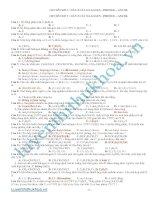 Bài tập Dẫn xuất Ancol – Phenol – Halogen