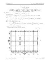 đồ án bê tông cốt thép   đoàn huy hải (kèm bản vẽ)
