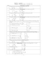 Các chuyên đề bồi dưỡng toán lớp 9 trắc nghiệm đại số