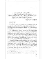 Báo cáo Quan hệ giữa Việt Nam với Liên Xô và Trung Quốc trong thời kỳ đầu của cuộc kháng chiến chống Mỹ cứu nước (1954-1964)