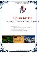 bài dự thi dạy học the chủ đề tích hợp liên môn bài cảnh quan đới nóng và đới lạnh