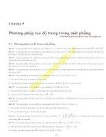 Bài tập phương pháp tọa độ trong mặt phẳng