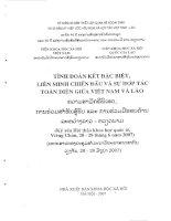 Báo cáo Quan hệ đoàn kết chiến đấu Việt - Lào trong kháng chiến chống thực dân Pháp xâm lược Diễn trình, thành quả và kinh nghiệm
