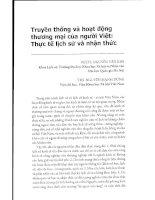Báo cáo Truyền thống và hoạt động thương mại của người Việt thực tế lịch sử và nhận thức