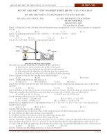 Bộ đề thi thử tốt nghiệp THPT quốc gia