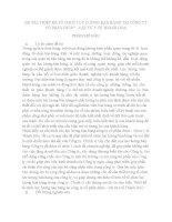 THIẾT kế tổ CHỨC lực LƯỢNG bán HÀNG tại CÔNG TY cổ PHẦN dược vật tư y tế THANH hóa