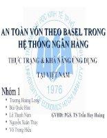 Thuyết trình An toàn vốn theo Basel  trong hệ thống ngân hàng. Thực trạng và khả năng ứng dụng tại Việt Nam