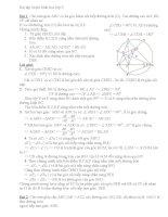Bài tập ôn thi hình học lớp 9