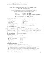 Đề cương chi tiết học phần Quản trị kinh doanh lữ hành (bậc cao đẳng)