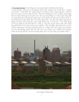 giáo án tích hợp liên môn hoạt động của con người gây ô nhiễm môi trường