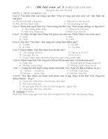 Đề đáp án bài viết số 3 Ngữ văn 12