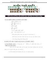 TỔNG ôn tập KIẾN THỨC TOÁN THI vào lớp 10 (FULL HAY)