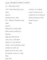 từ vựng và ngữ pháp tiếng anh lớp 11 UNIT 7-8
