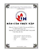 báo cáo thực tập chuyên ngành điện Công ty Cổ phần Thương mại Dịch vụ Cơ điện lạnh Sang Anh