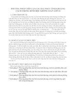 PHƯƠNG PHÁP TIẾP CẬN CÁC BÀI TOÁN TÍNH KHOẢNG CÁCH TRONG HÌNH HỌC KHÔNG GIAN LỚP 12