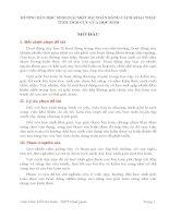 HƯỚNG DẪN HỌC SINH GIẢI MỘT BÀI TOÁN BẰNG CÁCH KHAI THÁC TÍNH TÍCH CỰC CỦA HỌC SINH