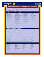 Common structures with adjectives